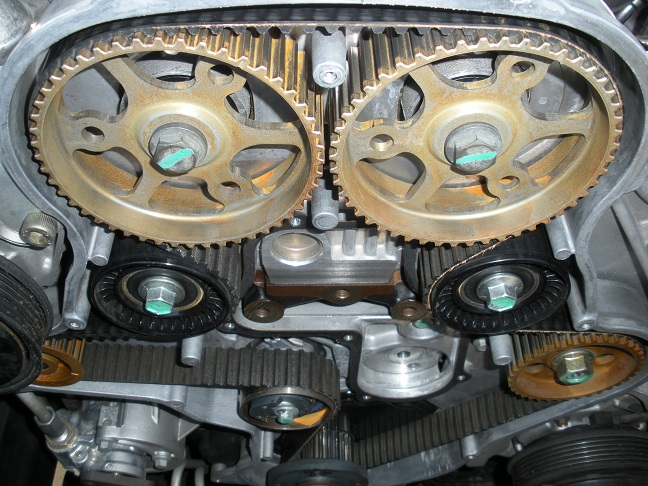 Timing belt change on jeep.